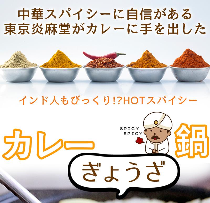 東京炎麻堂 カレー鍋 音鳴るぎょうざ鍋セット スパイシーカレー 3-4人前